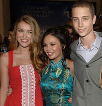 Nathalia Ramos, Janel Parrish and Chet Hanks at the California premiere of