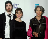 Director Ti West, Jocelin Donahue and Mary Woronov at the New York premiere of