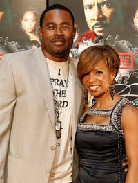 Lamman Rucker and Elise Neal at the premiere of