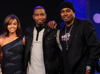 Sharon Leal, Michael Jai White and Lamman Rucker at the BET's 106 & Park in New York.