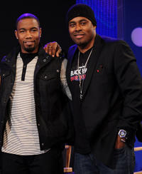 Michael Jai White and Lamman Rucker at the BET's 106 & Park in New York.