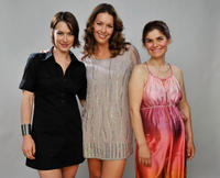 Jacy King, Louise Griffiths and Zana Zefi at the portrait session of