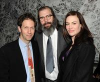 Director Tim Blake Nelson, Steve Earle and Maggie Siff at the after party of the special screening of
