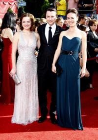 Elizabeth Moss, Vincent Kartheiser and Maggie Siff at the 60th Primetime Emmy Awards.