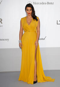 Kim Kardashian at the 2012 amfAR's Cinema Against AIDS during the 65th Annual Cannes Film Festival.
