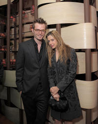 Christopher Backus and Mira Sorvino at the after party of the New York premiere of