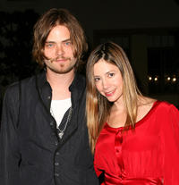 Christopher Backus and Mira Sorvino at the California premiere of