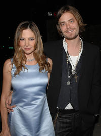 Mira Sorvino and Christopher Backus at the after party of the California premiere of