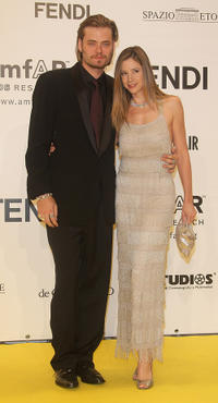 Christopher Backus and Mira Sorvino at the amfAR's Inaugural Cinema Against AIDS in Rome.