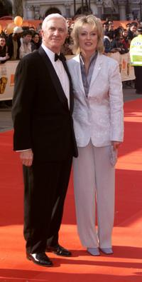 Leslie Nielsen and his wife at the BAFTA Awards.