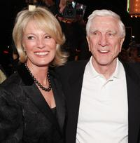 Barbaree and her husband Leslie Nielsen at the premiere of