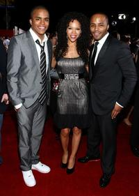Chris Warren Jr., Brook Kerr and Christopher Warren at the premiere of