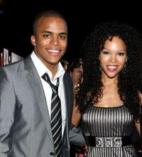 Chris Warren Jr. and Brook Kerr at the premiere of