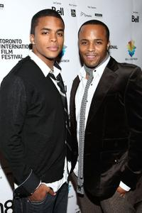 Chris Warren Jr. and Chris Warren Sr. at the premiere of