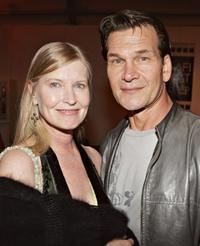 Lisa Niemi and Patrick Swayze at the after party of