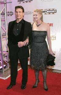 Patrick Swayze and Lisa Niemi at the red carpet for Celebrity Fight Night XII.