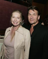 Lisa Niemi and Patrick Swayze at the after party premiere of