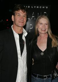 Patrick Swayze and wife Lisa Niemi at the Los Angeles premiere of