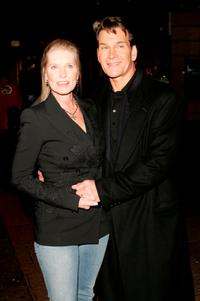 Patrick Swayze and Lisa Niemi at the UK premiere of