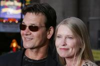 Patrick Swayze and Lisa Niemi at the fan screening of