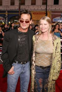 Patrick Swayze and Lisa Niemi at the screening of