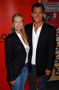 Lisa Niemi and Patrick Swayze at the Borders Bookstore to sign copies of