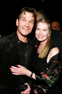 Patrick Swayze and wife Lisa Niemi at the premiere of