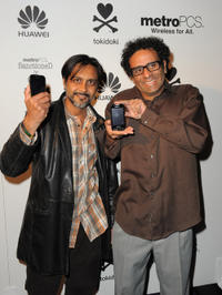Anjul Nigam and Sid Veda at the Launch of Huawei M835 Sanctioned by tokidoki in California.