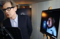 Bill Nighy on the set of