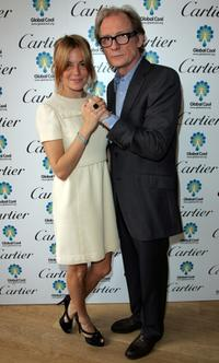 Bill Nighy and Sienna Miller at the Cartier Loveday and Global Cool lunch at Tom's Kitchen.