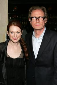 Bill Nighy and Julianne Moore at the after party for the opening night of