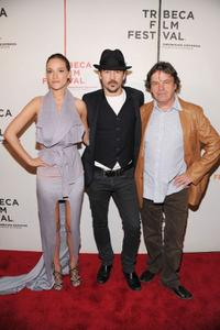 Alicja Bachleda, Colin Farrell and Neil Jordan at the New York premiere of