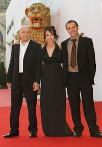 Aleksei German Jr., Chulpan Khamatova and Merab Ninidze at the premiere of