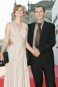 Merab Ninidze and his wife at the premiere of