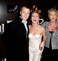 Alfie Allen, Jaime Winstone and her mother Elaine at the European premiere of
