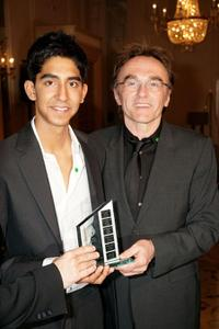 Dev Patel and Danny Boyle at the London Critics' Circle Film Awards.