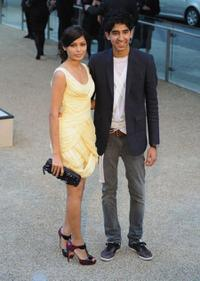 Frieda Pino and Dev Patel at the Burberry Prorsum Fashion Show.