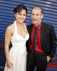 Cathy Shim and Ben Garant at the premiere of