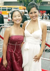 La Na Shi and Cathy Shim at the premiere of