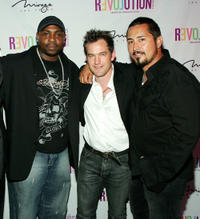 Christopher Holley, Maury Sterling and stuntman Ben Bray at the DVD Launch party of