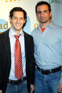 Jeremy Glazer and Neil Giuliano at the GLAAD Media Nominations Announcement during the 2007 Sundance Film Festival.