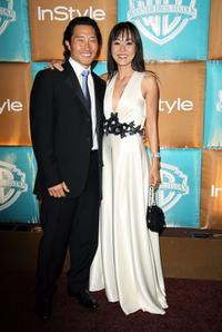 Daniel Kim and Yunjin Kim at the In Style Magazine and Warner Bros. Studios Golden Globe After Party.