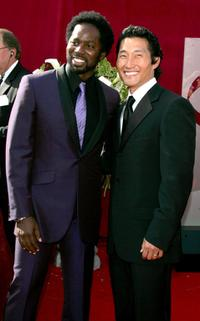 Harold Perrineau Jr. and Daniel Kim at the 57th Annual Emmy Awards.