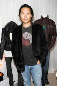 Daniel Kim at the Monarchy Collection display during the 60th annual Primetime Emmy Awards.