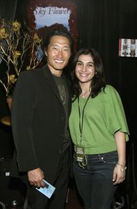 Daniel Kim and Guest at the distinctive assets gift lounge during the Spike TV's Video Game Awards.