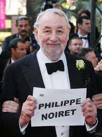 Philippe Noiret at the Palais des festival to attend the screening of