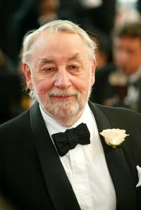 Philippe Noiret at the closing ceremony of the 56th International Cannes Film Festival.