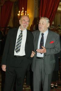 Philippe Noiret and Jean-Pierre Marrielle at the Elysee Palace prior to the Cannes Film Festival.
