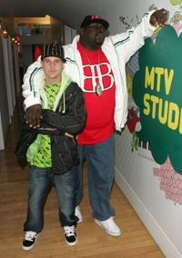 Rob Dyrdek and Christopher Big Black Boykin at the MTV's Total Request Live.