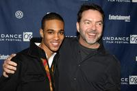 Eugene Jones and director Alan Ball at the premiere of